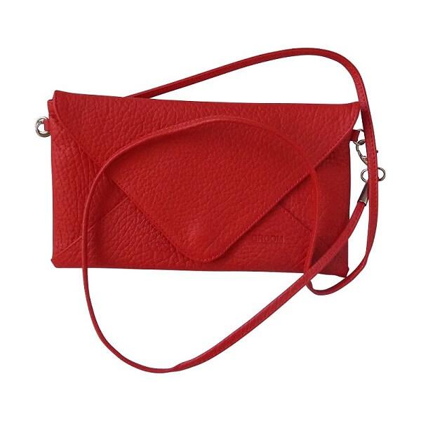 sac rouge cuir