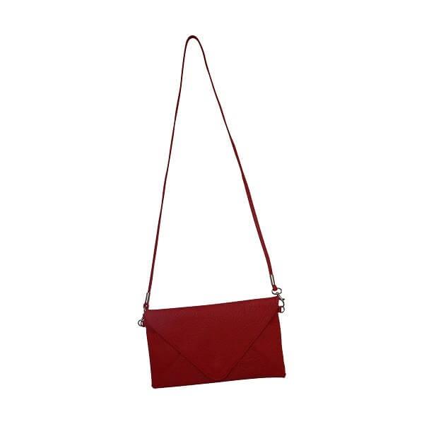 sac en cuir pochette rouge