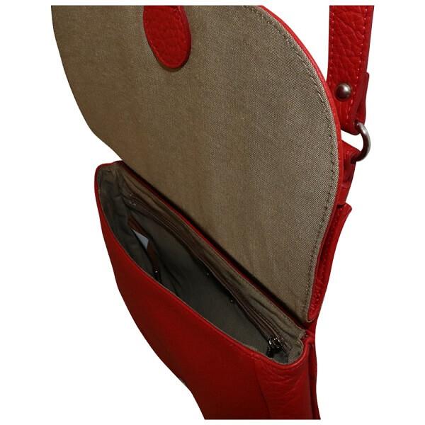 sac rouge en cuir